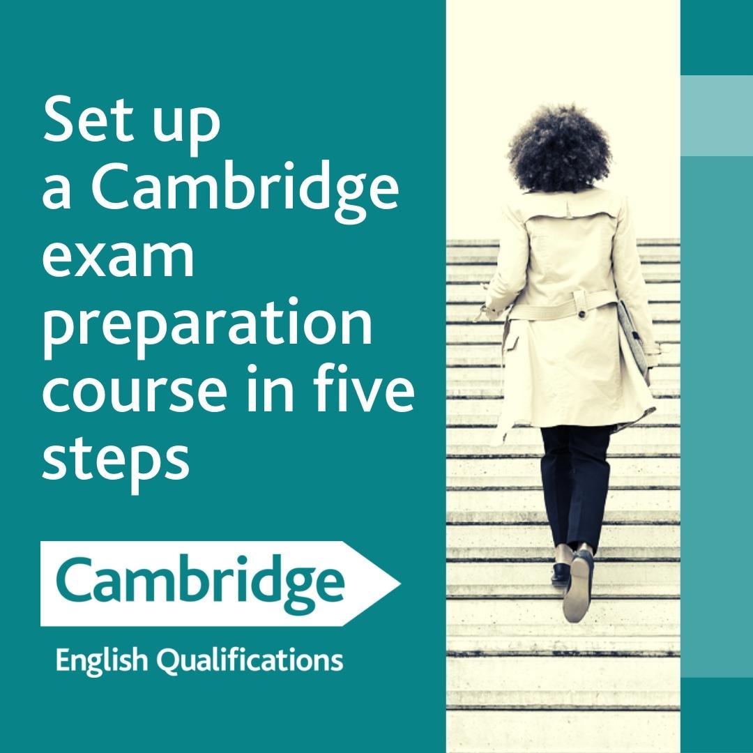 202108 Set up a Cambridge exam preparation course landing page image